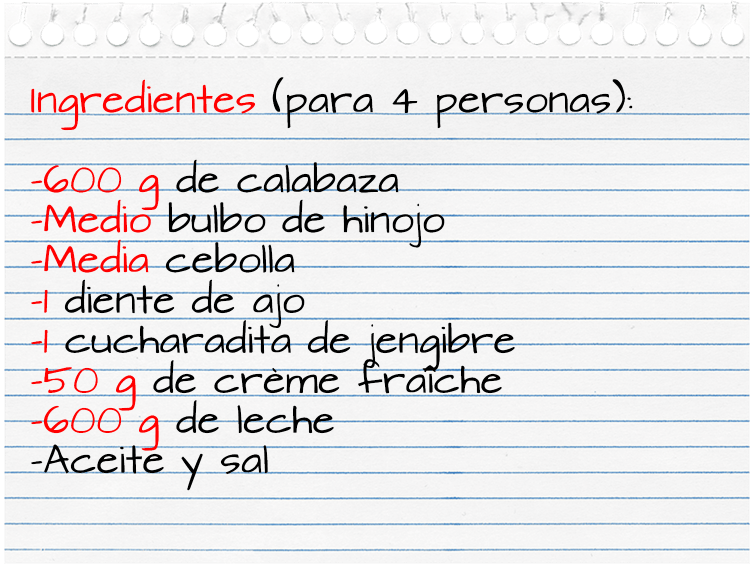 Ingredientes_crema calabaza