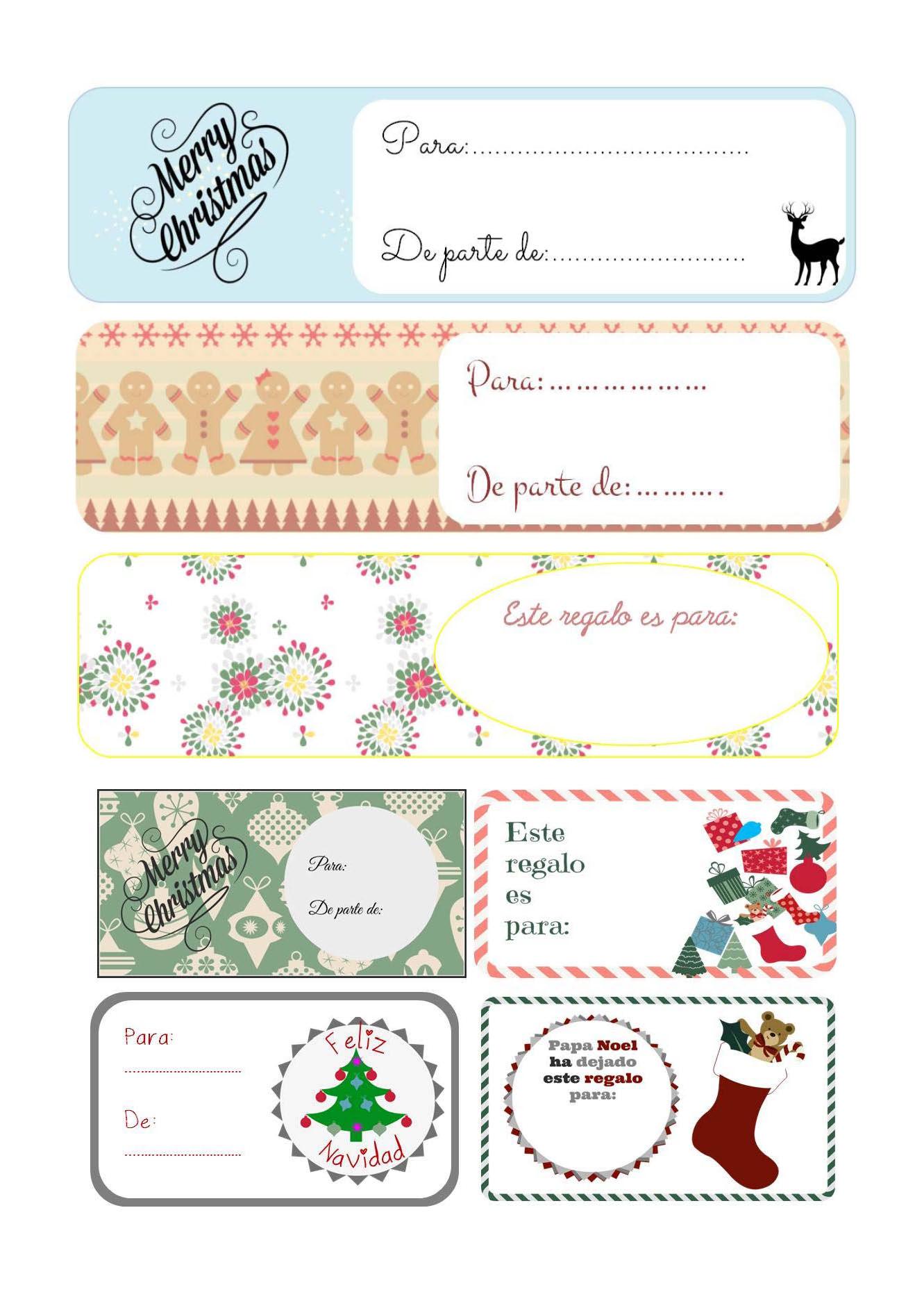 etiquetas de regalo para imprimir gratis