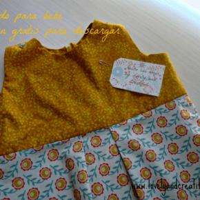 Vestido Berta para bebé. Patrón gratis!