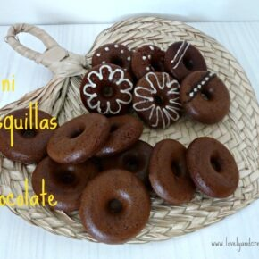 Mini rosquillas de chocolate