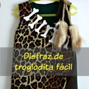 Disfraz de troglodita para niña 3 años (patrón gratis incluido)