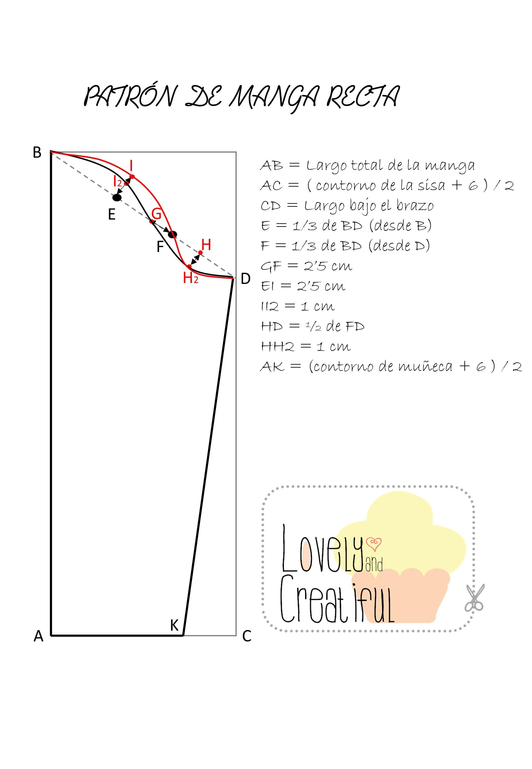 Curso gratis de corte y confección: patrón de manga recta | Lovely ...