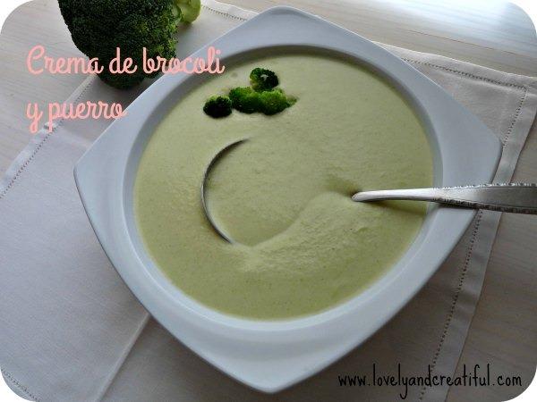 Crema de brocoli y puerro