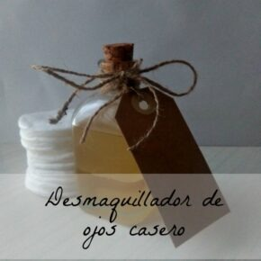 Desmaquillador de ojos casero con aceite, tomillo y manzanilla