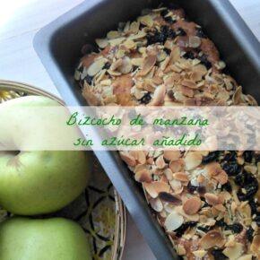 Bizcocho de manzana y pasas sin azúcar