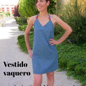 Tutorial: vestido vaquero atado al cuello – patrón y confección