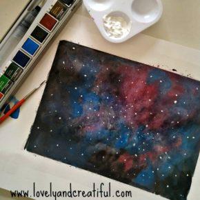 Pintar un Universo con Acuarelas