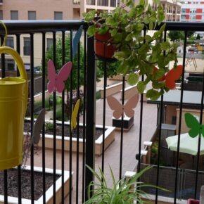 Mariposas de goma eva para decorar el balcón