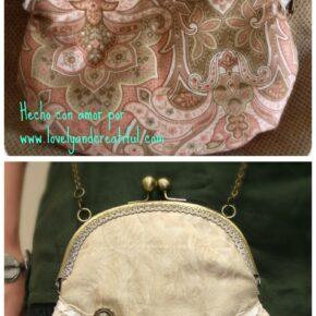 """Cómo confeccionar un bolso con boquilla estilo """"vintage"""""""