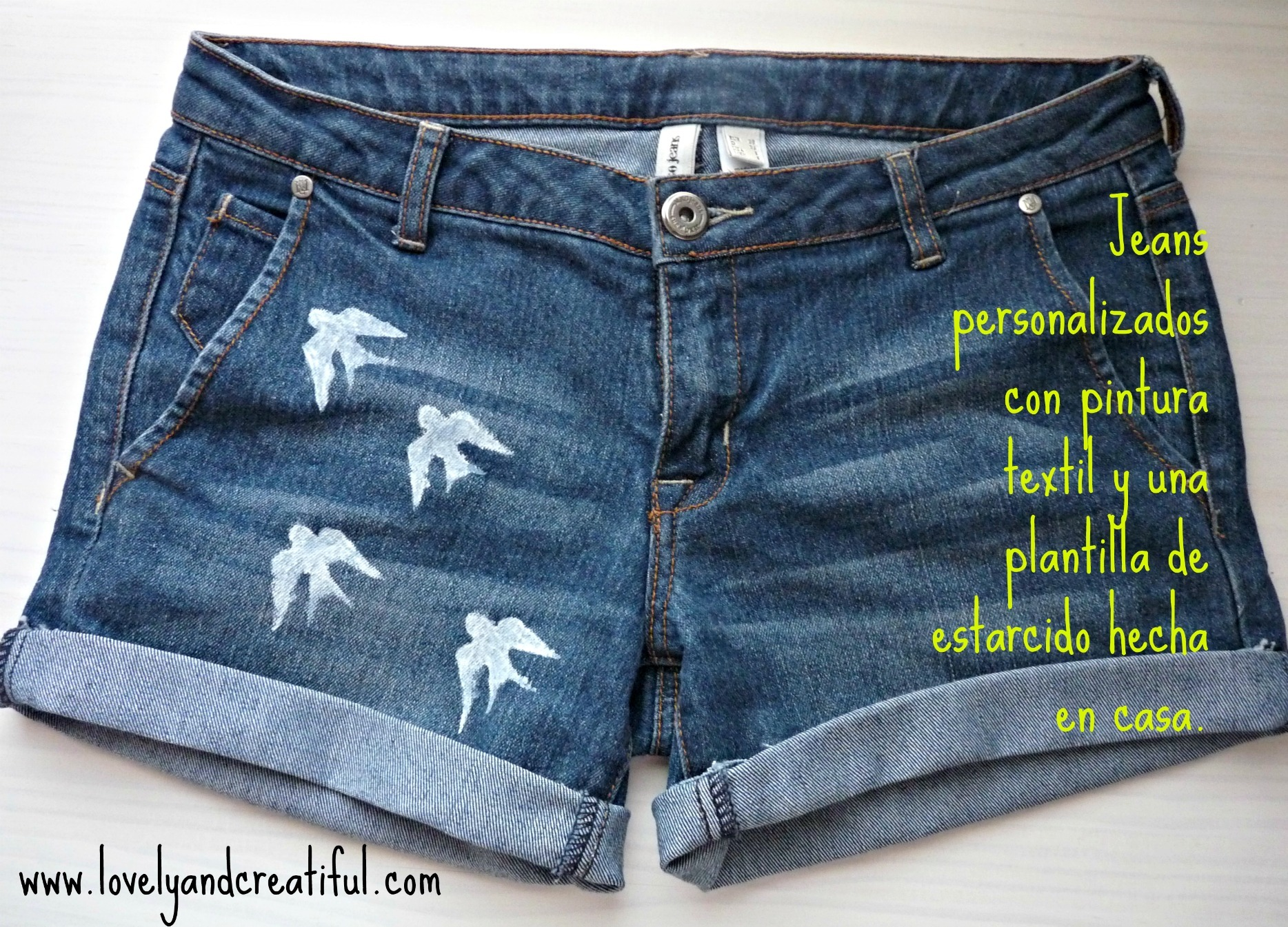 Idea Para Personalizar Unos Pantalones Vaqueros Con Pintura Textil Lovely And Creatiful