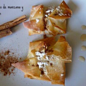 Pañuelitos de manzana y melocotón