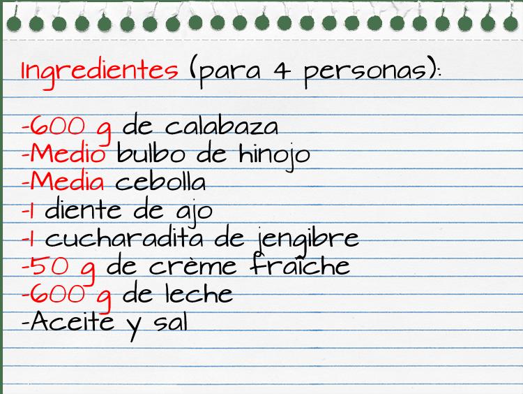 Ingredientes_crema calabaza