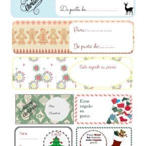 Etiquetas para regalos. Imprimible gratis!