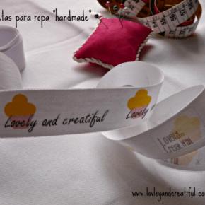 Etiquetas de tela con papel transfer