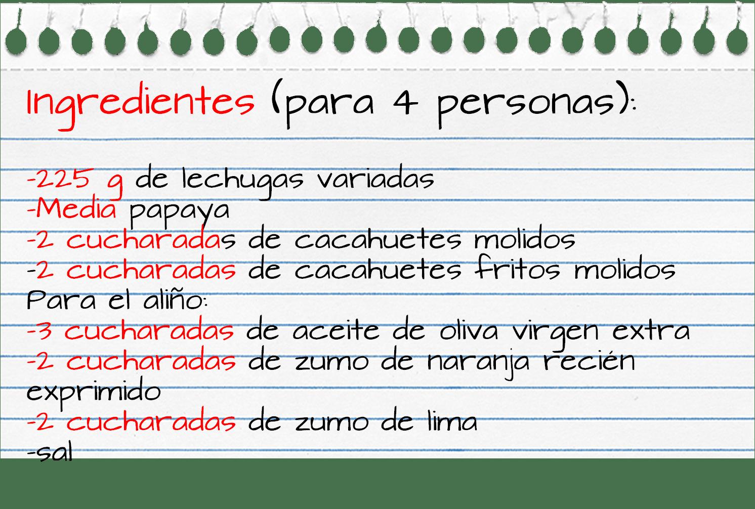 Ingredientes_ensalada_papaya