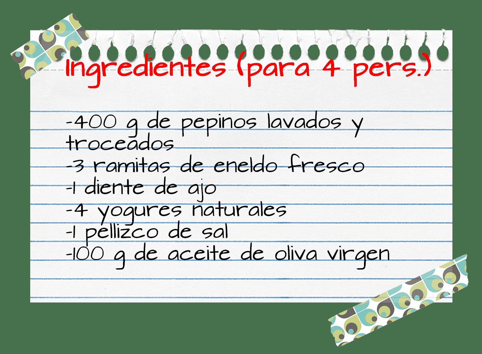 Ingredientes_sopa_pepinos_yogur