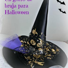 Sombrero de bruja para Halloween.  Cómo hacer el patrón a medida.