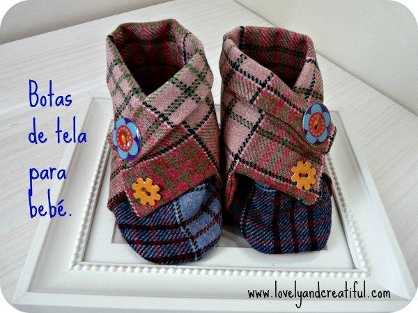 Botas de tela para bebé