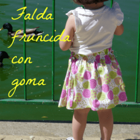 Tutorial: Falda fruncida con goma